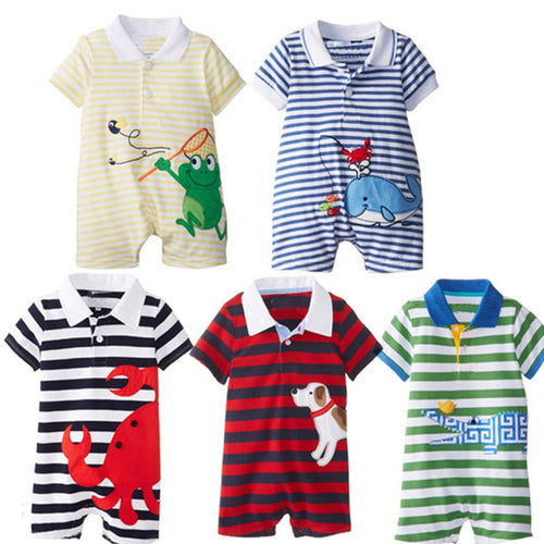 Stripped Romper Clothes for Kids (6-24 M) - GoFancy
