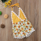 Halter Lace Sunflower Outfit (0 - 18 M)