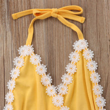 Load image into Gallery viewer, Halter Lace Sunflower Outfit (0 - 18 M)