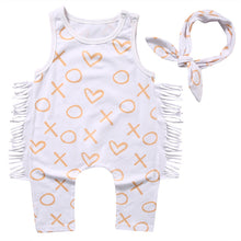 Load image into Gallery viewer, XOXO - Cute Soft Romper with Band