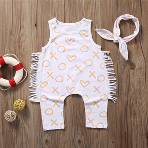 XOXO - Cute Soft Romper with Band