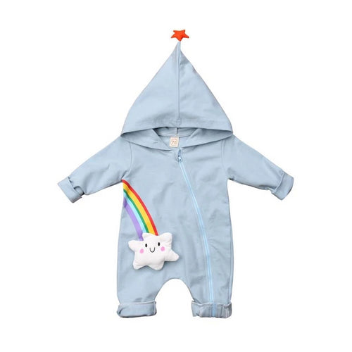 Star Hooded Rainbow Jumpsuit (6 - 24 M)
