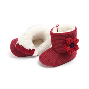 Warm Infant Boots with a Trademark Flower (0 - 15 M)