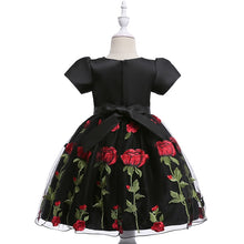 Load image into Gallery viewer, Elegant In-Fashion Party Rose Applique Dress (2 - 7 Y)
