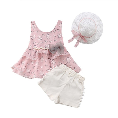 Let Summers Speak Top + Shorts + Hat (1 - 3Y)