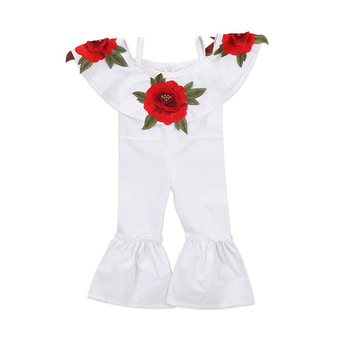 Stylish Red Flower Jumpsuit (6M - 3Y)