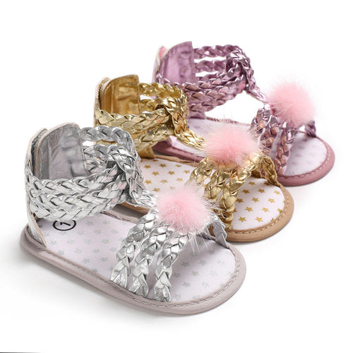 Little Girls Soft Crib Sandals