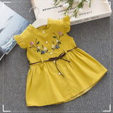 Summer Cotton Embroidered Outfit with Belt (6 - 24)