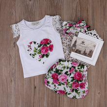 Load image into Gallery viewer, The Floral Heart Matching 3 Piece Outfit (6M - 24M)