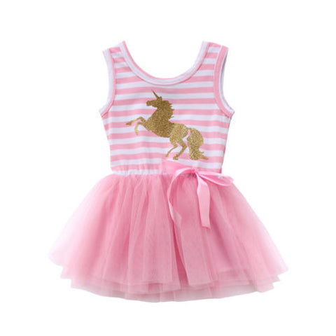 The Golden Unicorn Frock (3M - 3Y)
