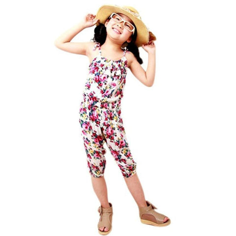 Hot in Demand Casual Floral Jumpsuits (1 - 5 Y)