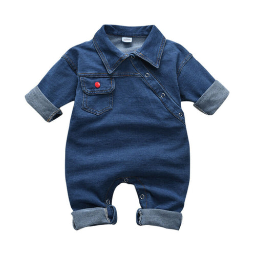 The Denim Jumpsuit (3 M - 3 Y)