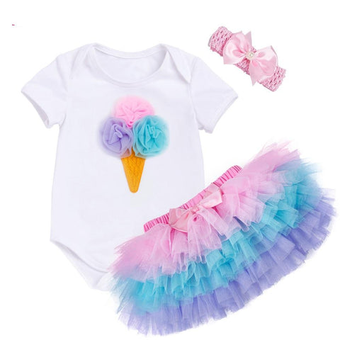 Tutu Party Set 3 Pcs (0 - 12 M)