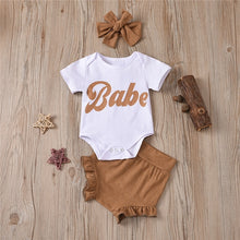 Load image into Gallery viewer, That Babe 3 Pc Outfit - Size Range: 0 to 12 Months