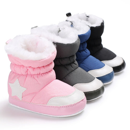 Unisex Star Printed Snowfield Snow Boots (0 - 15 M)