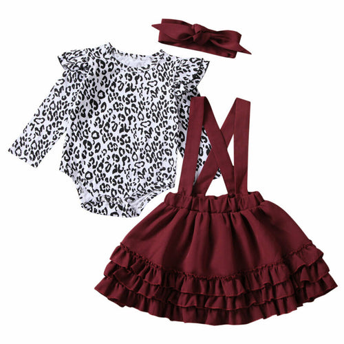 The Maroon Leopard 3 Piece Outfit