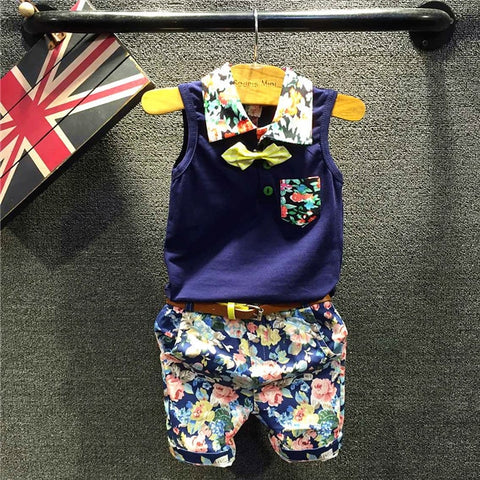 Summer Floral Shirt + Belted Shorts (1 - 5Y)
