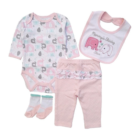 Super Value Infant Pack - Bib + T-Shirt + Pants + Socks (0 - 12M)