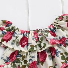 Load image into Gallery viewer, Bold in Contrast Floral Top + Shorts (6 - 24 M)