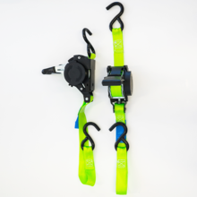 Load image into Gallery viewer, Ultimate Retractable Ratchet Strap twin pack