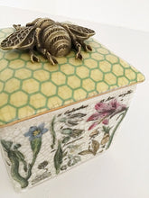 Load image into Gallery viewer, Trinket Box - Porcelain, Brass, Bees