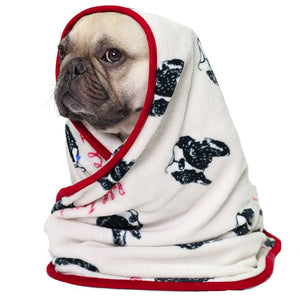 Beige Frenchie Blanket
