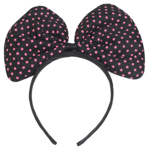 Haru's Bow Black Pink Star