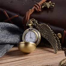 Load image into Gallery viewer, Golden Snitch Pocket Watch Necklace
