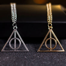 Load image into Gallery viewer, Deathly Hallows Harry Potter necklace