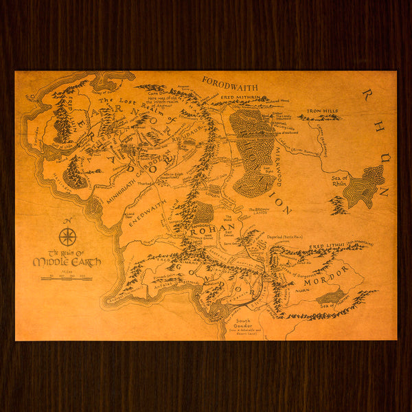 Vintage Middle Earth Map (FREE)