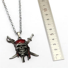 Load image into Gallery viewer, Pirates of the Caribbean Skull Necklace