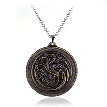 Load image into Gallery viewer, House Targaryen Sigil Necklace
