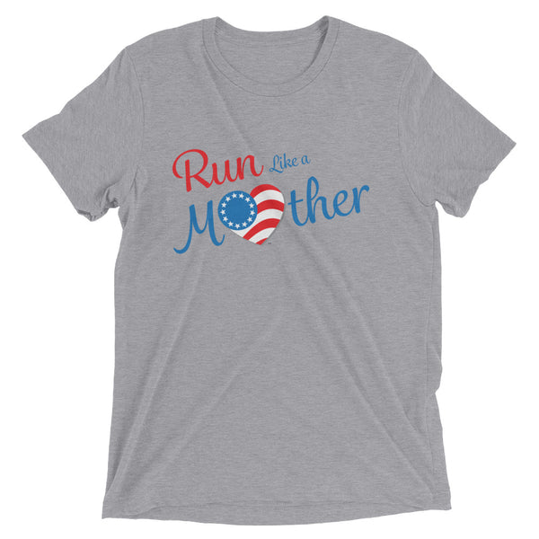 "Run with Heart Series ""Run Like a Mother"" Short Sleeve T-shirt - White Logo"