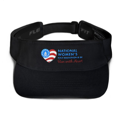 National Women's Half Marathon Blue Logo Visor