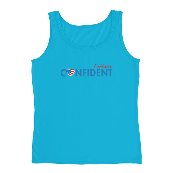 "Run with Heart Series ""I Am Confident"" Ladies' Tank"