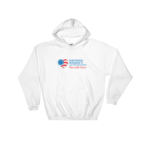 Run with Heart Series Hooded Sweatshirt - Blue Logo