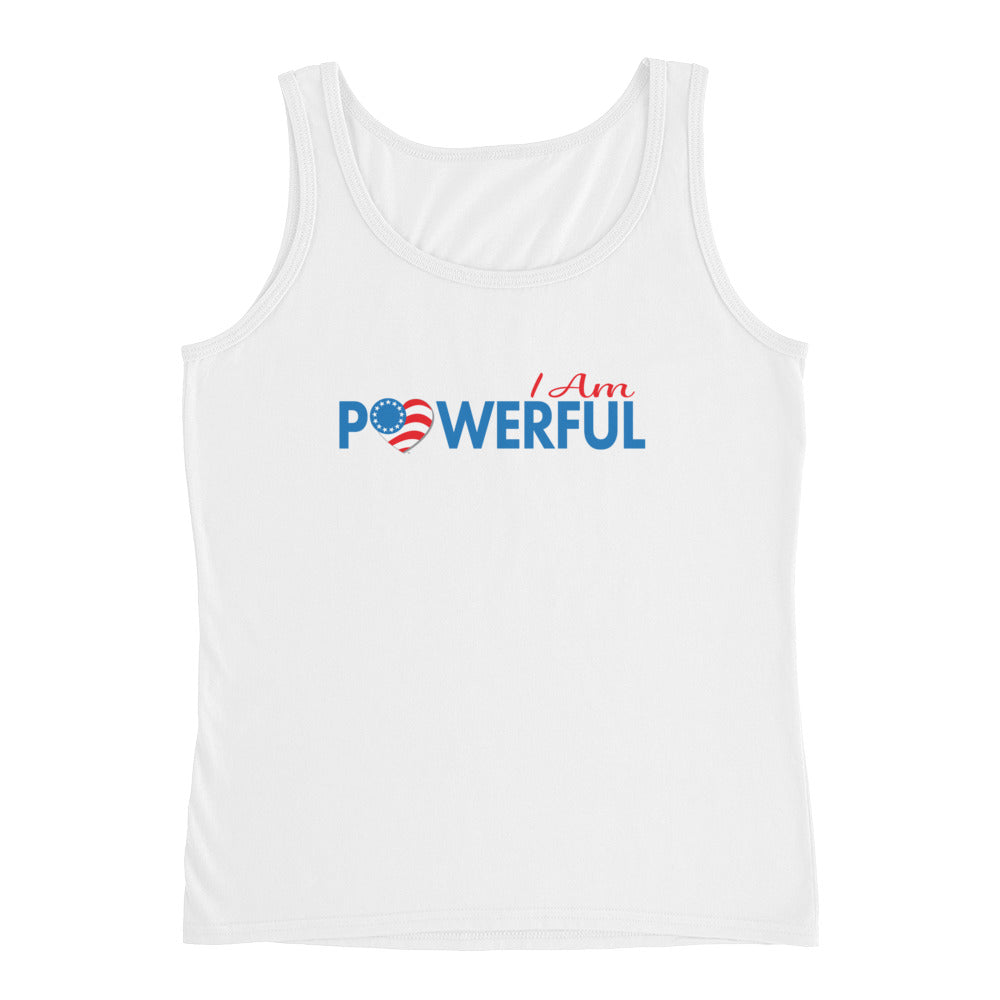 "Run with Heart Series ""I Am Powerful"" Ladies' Tank"