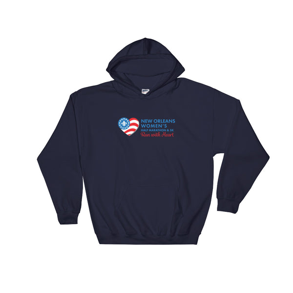 New Orleans Women's Half Marathon Hooded Sweatshirt - Blue Logo