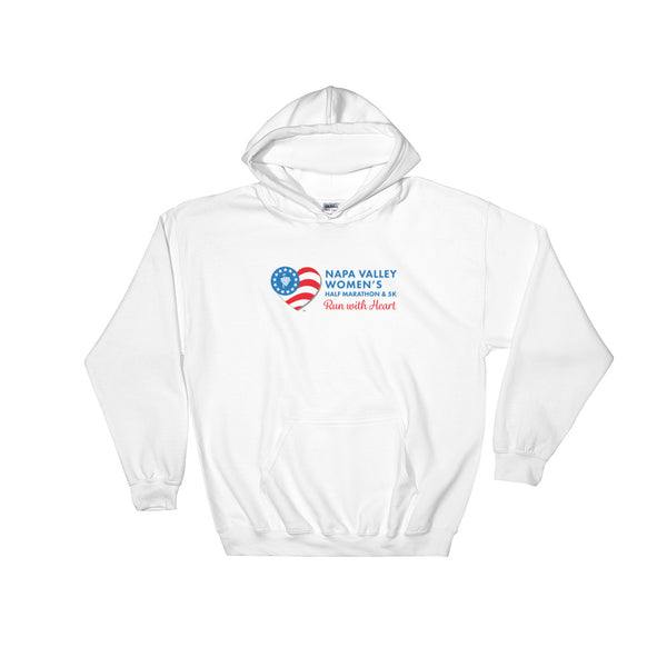 Napa Valley Women's Half Marathon Hooded Sweatshirt - Blue Logo