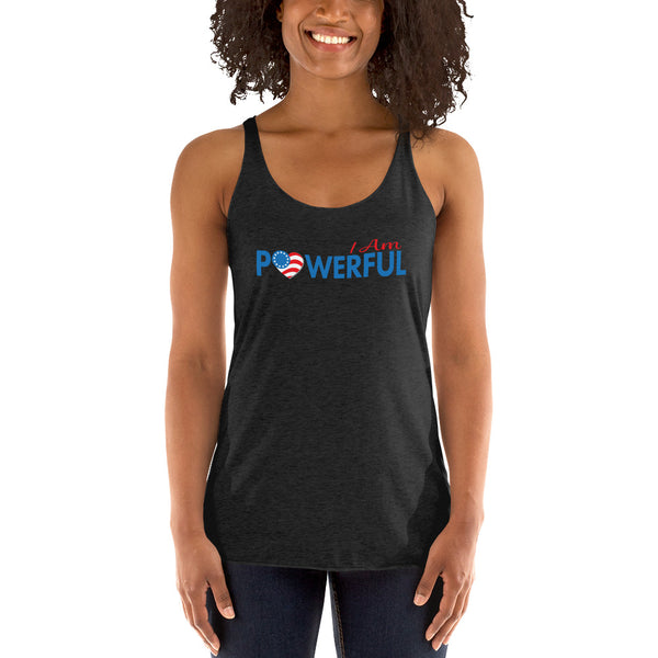 "Run with Heart Series ""I Am Powerful"" Racerback Tank"