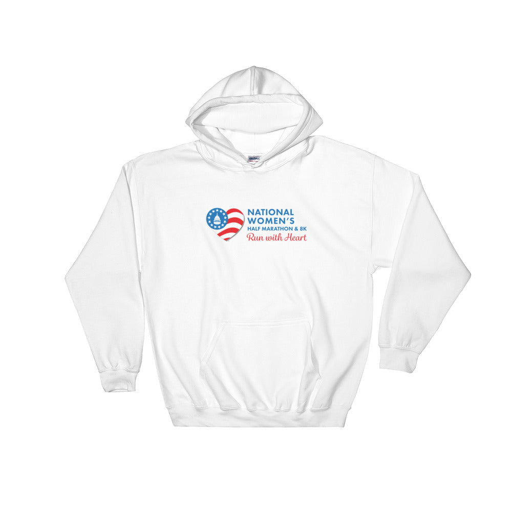 National Women's Half Marathon Hooded Sweatshirt - Blue Logo