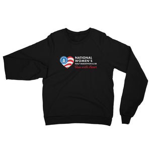 National Women's Half Marathon Fleece Raglan Sweatshirt - White Logo