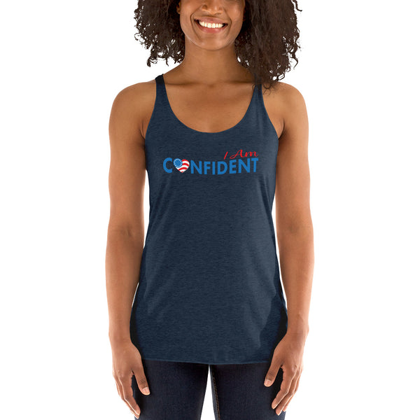 "Run with Heart Series ""I Am Confident"" Racerback Tank"