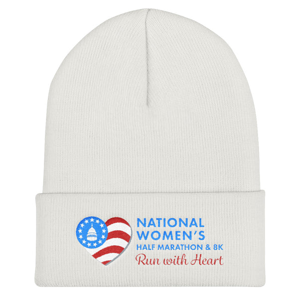 National Women's Half Marathon Cuffed Beanie - Blue Logo