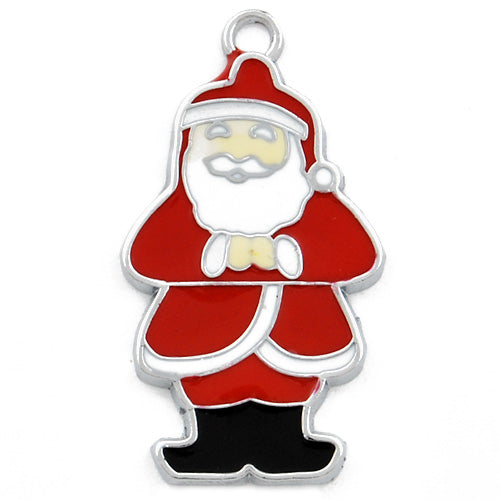 The Santa Claus Enamel Charms,red,height 37mm,width 20mm,thick 2mm,Sold 20 PCS Per Package