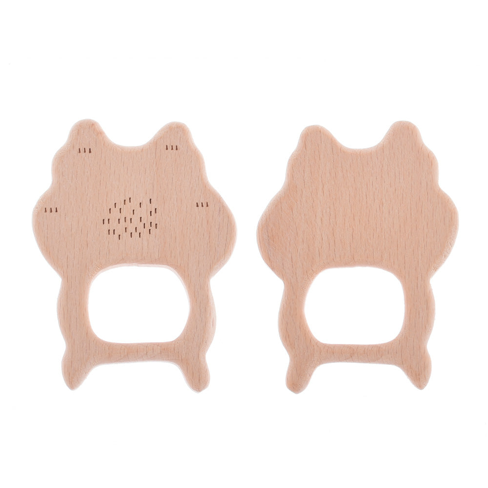 68*51mm Baby Teething Toy Wooden Teether First baby toys Handmade Baby toy Jewelry Wooden toy cat shape 2pcs 10187954