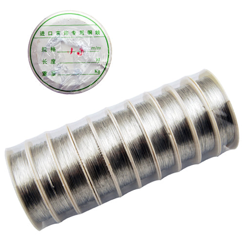 10M/Roll,0.3MM Thick Soft Brass Wire,Silver,Sold 10 Rolls Per Lot