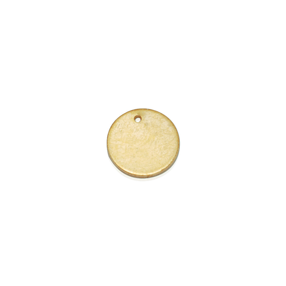 about 10mm  Single-Hole circular sheet brass,Brass Blanks stamping blanks tags,Jewelry Making Discs,Thickness 1 mm,Metal,50pcs/lot