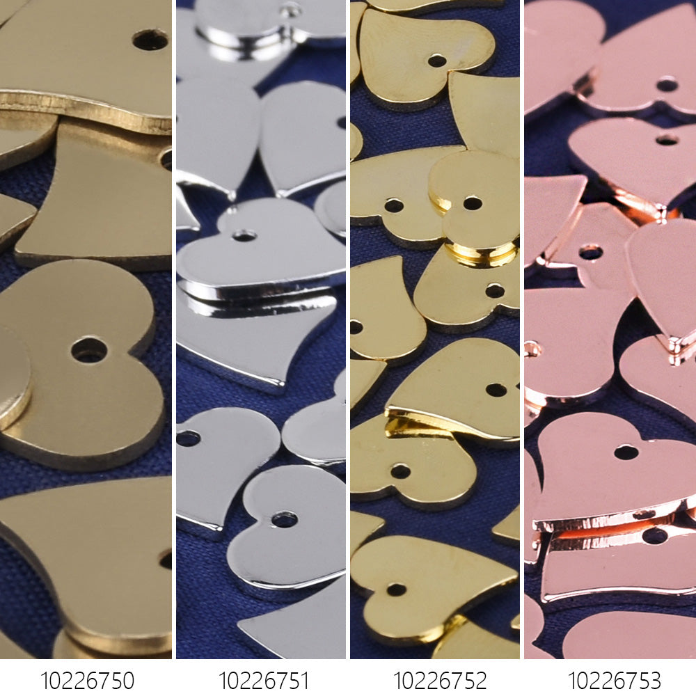 "1/2""*1/2"" Brass Heart Stamping Blanks with hole Heart Charms 10pcs 102267"