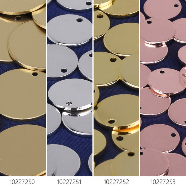 "1/2"" Brass round stamping blanks with hole Stamping Tags Round Findings 10pcs 102272"